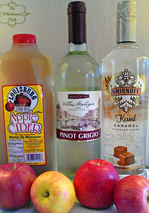Caramel Apple Sangria - Not sure about the caramel vodka part but other than that looks good!