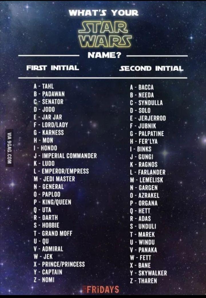 Pin By Lori Reynolds On Star Wars Star Wars Humor Funny Name Generator Funny Names