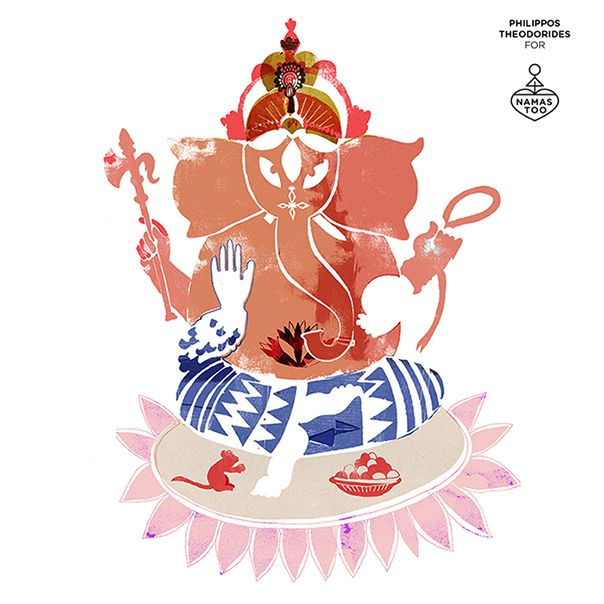"""This is how Philippos Theodorides """"sees"""" Lord Ganesha. We bow to his talent too!"""