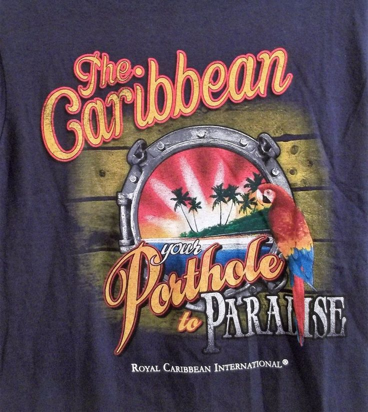 Royal Caribbean International Cruise Line Porthole To Paradise T-Shirt Small New