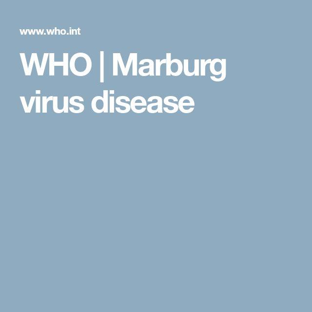 WHO   Marburg virus disease