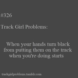 More like looking like your hands had been bleeding fro days because of our red track...