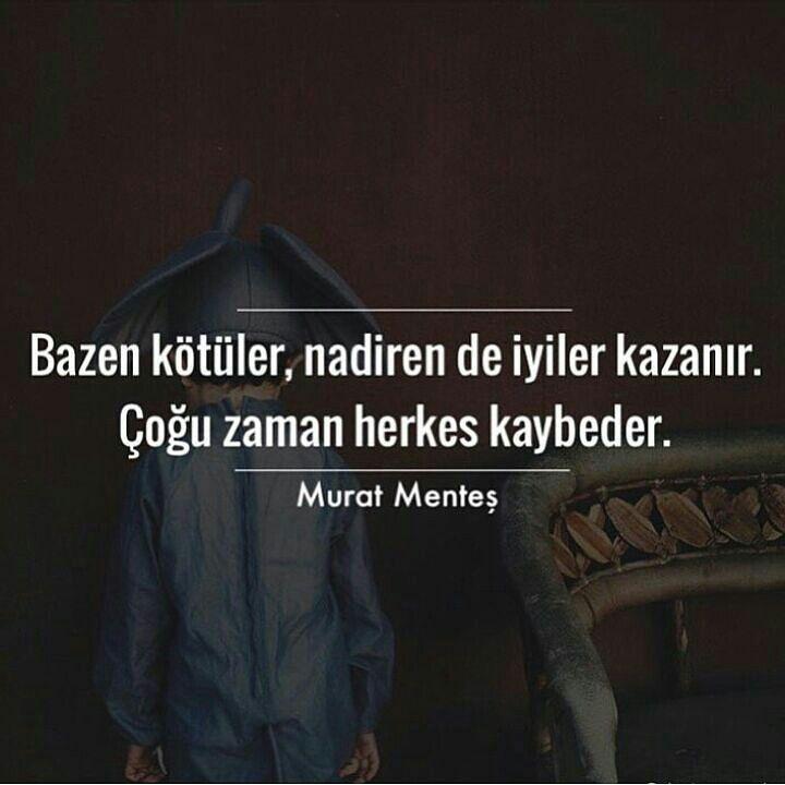 Bazen kötüler, nadiren iyiler kazanır. Çoğu zaman herkes kaybeder. |Murat Menteş #alıntı #alıntılar #alıntıdır #alıntısözler#sözler #anlamlısözler #güzelsözler #manalısözler #özlüsözler #alıntı #alıntılar #alıntıdır #alıntısözler #edebiyat #poem #literature #kitapalinti #kitapalintilari #kitap #bookstagram #okumahalleri #like #alinti #instagram #altinicizdiklerim#ayrac #kitapkokusu #kitapaski #kitapkurdu #edebiyat #kitapalintisi #oku #okumakguzeldir #okumahalleri #quote #kitaptutkusu