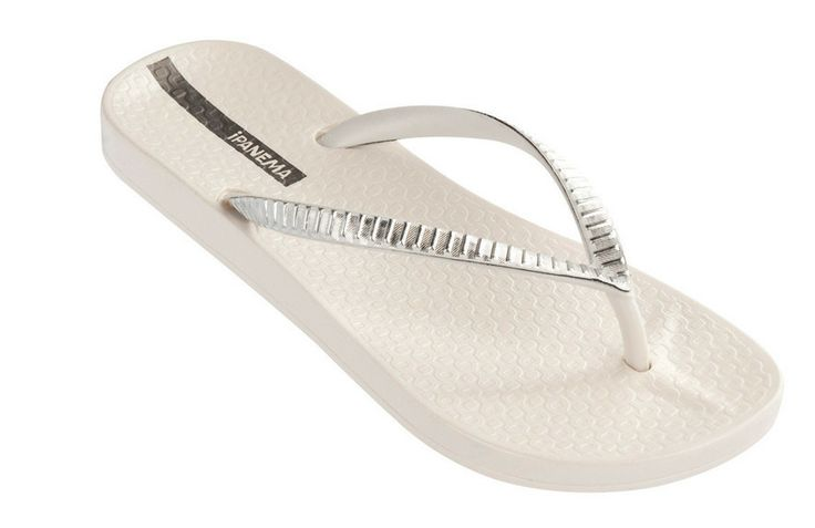 Ipanema Metallic - Brazilian Ladies Flip Flops - White / Silver | Coastal Culture - Holiday & Swimwear boutique  http://www.coastalculture.co.uk/collections/ipanema-flip-flops/products/ipanema-metallic-brazilian-ladies-flip-flops-white-silver