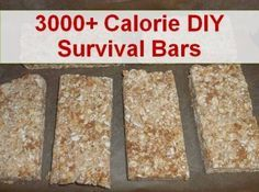 How to Make 3000+ Calorie DIY Survival Food Ration Bars (per batch) I have made these.....not bad!