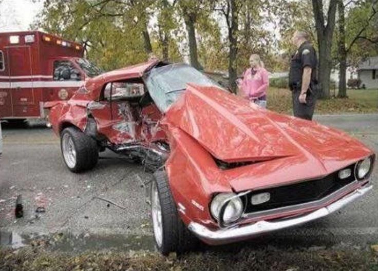 Image Result For Wrecked Muscle Car