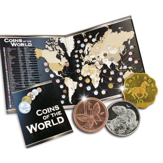O Γύρος του Κόσμου σε ...50 Νομίσματα! Ταξιδέψτε σε όλη τη Γη  !Δώρο  Αυτό που θα καθιστά τη συγκεκριμένη συλλογή μοναδική στο είδος της είναι το εκπληκτικό της Εκθετήριο: τον πολύτιμο Άτλαντα που έχει τη μορφή πολυτελούς παγκόσμιου χάρτη με ειδικές υποδοχές ώστε να τοποθετείτε κάθε νόμισμα στην αντίστοιχη χώρα!  Το εκθετήριο που σας προσφέρουμε που θα σσας δώσει μία σφαιρική εικόνα των νομισμάτων και των τόπων που κυκλοφορούν σε ολόκληρο τον πλανήτη με μία μόνο ματιά, θα τα αποκτήσετε ΔΩΡΟ