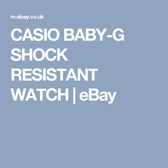 CASIO BABY-G SHOCK RESISTANT WATCH  | eBay