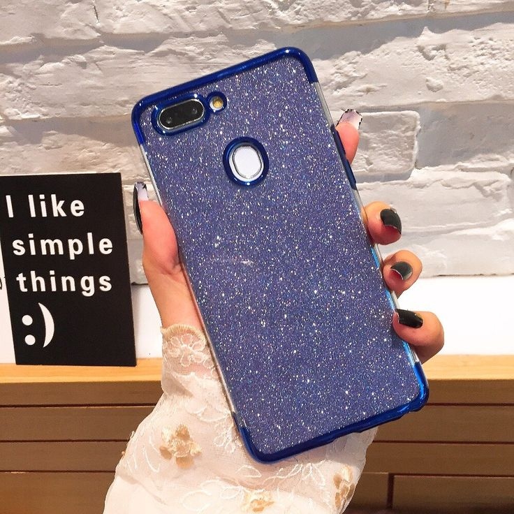 Glitter Case For OPPO A3S A5 F9 Pro F5 Case For OPPO F7