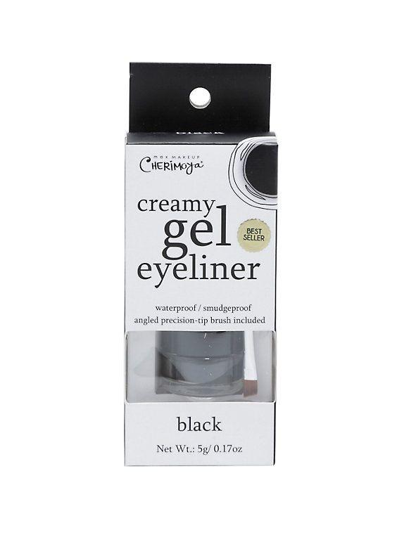 Max Makeup Cherimoya Black Waterproof Creamy Gel Eyeliner Set,