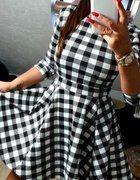 sukienka rokloszowana krata czarno biala 36   Cena: 89,00 zł  #asymetryczna #nowasukienka #modnasukienka