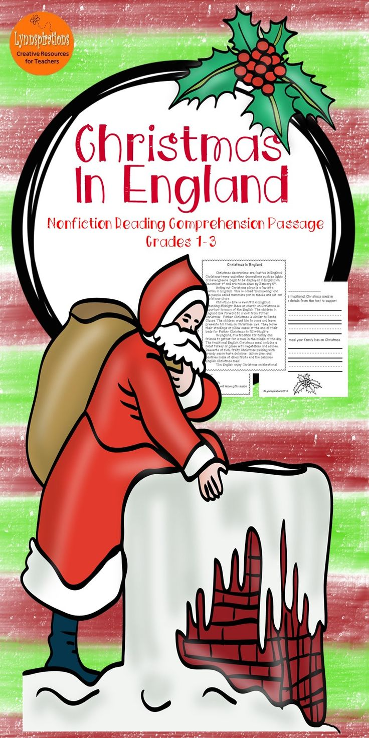 his Christmas Around the World England reading comprehension passage for grades 1-3 can be used in your class to help your students with reading comprehension skills as well as with test taking skills.   Please take a preview peek!   Included: An engaging passage with 4 multiple choice questions and 2 written responses.