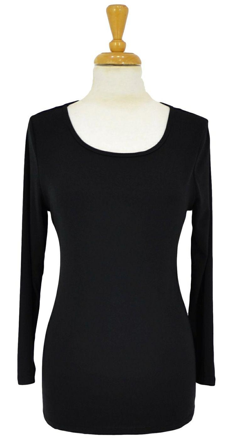 Black Full Sleeve Basic ~ Best selection of Tunics & matching accessories ~ Flat postage worldwide ~ Petite to Plus sizes ~ www.ilovetunics.com