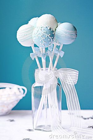 """Great """"dual use"""" idea...make the centerpiece from cake pops. The pops can also be favors, dessert, or both!"""