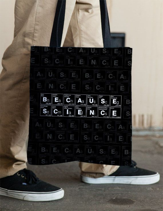 Because Science Tote by Vincent Carrozza