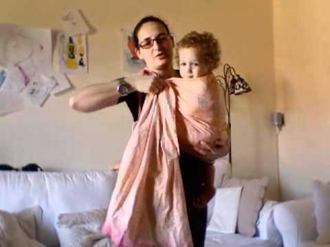 Fascia ad anelli, posizione sull'anca #babywrap tutorial