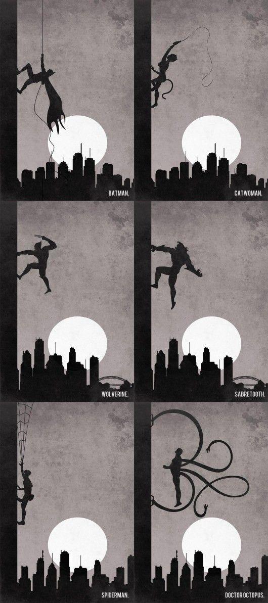 Six Supers, One Wall.: Geek, Comics Book Character, Nerdy Stuff, Book Characters, Super Heros, Super Heroes Villains, Art, Superheroes, Superhero Flyers