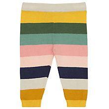 Buy John Lewis Baby Striped Knitted Leggings, Multi Online at johnlewis.com