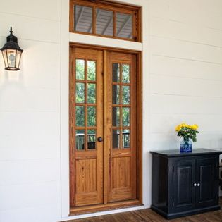 25 best ideas about exterior french doors on pinterest for Narrow exterior french doors