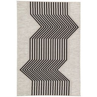 Nikki Chu by Jaipur Living Minya Silver/Black Geometric Indoor/Outdoor Geometric Area Rug (7'11 x 10') | Overstock.com Shopping - The Best Deals on 7x9 - 10x14 Rugs