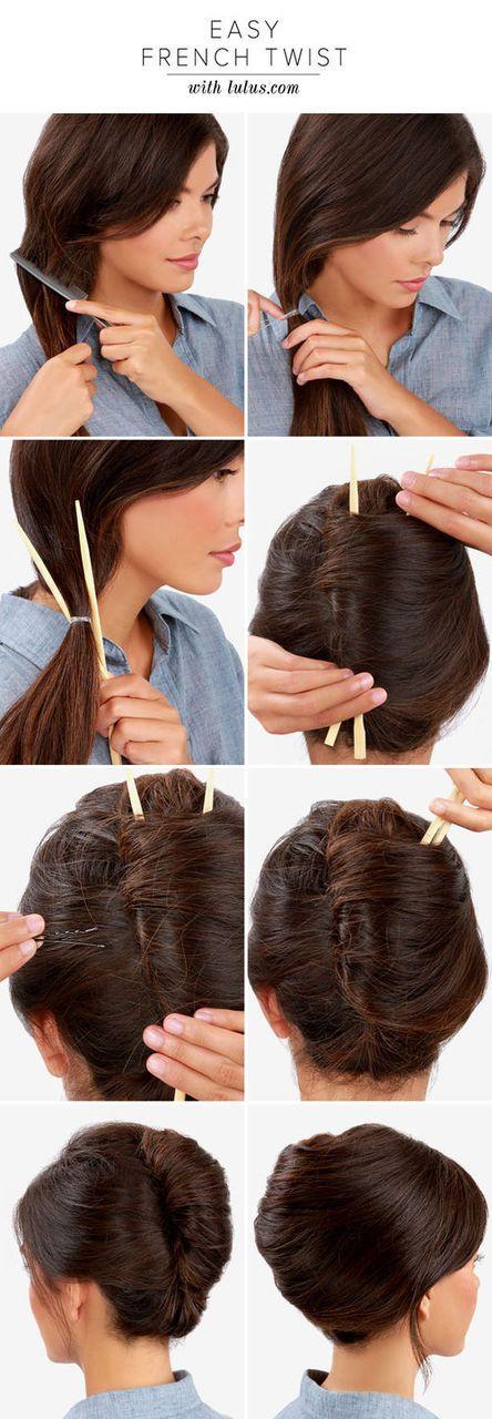 Zu den beliebtesten Tags für dieses Bild zählen: hair, hairstyle und french twist