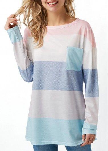 Long Sleeve Color Block Chest Pocket T Shirt on sale only US$30.64 now, buy cheap Long Sleeve Color Block Chest Pocket T Shirt at liligal.com