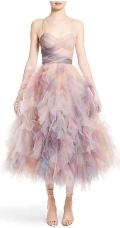 watercolor tulle dress