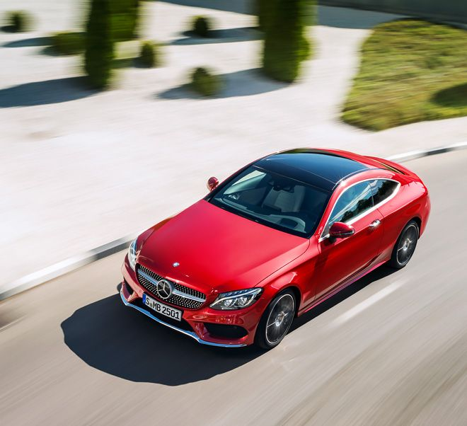 Safe on the road: the Mercedes-Benz C-Class Coupé.