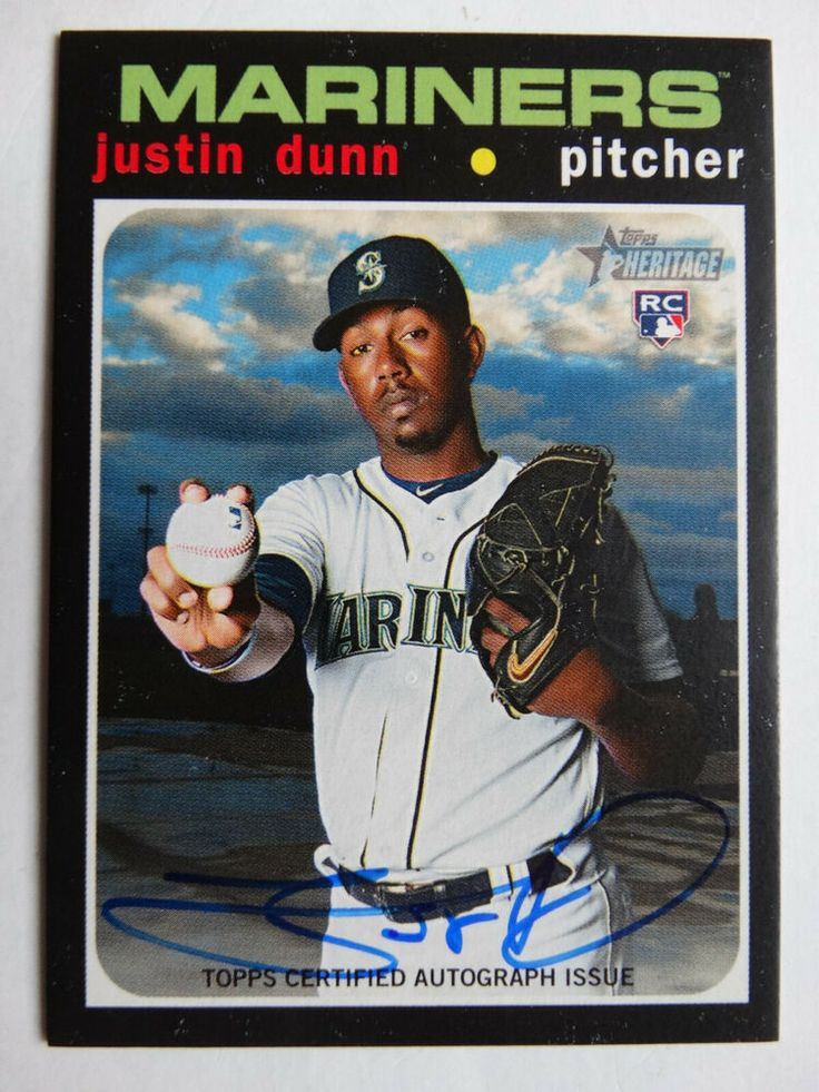 2020 topps heritage roajd justin dunn real one auto