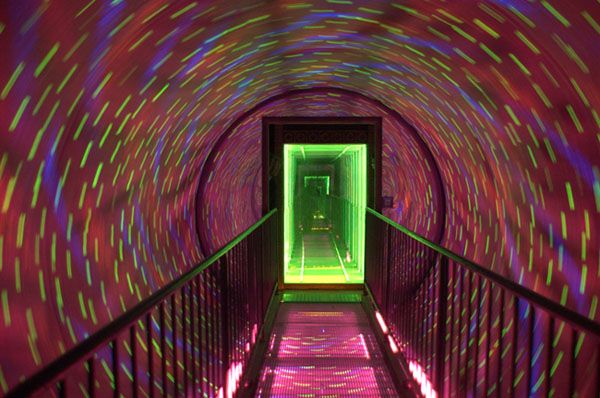 The Amazing Vortex Tunnel -  The VORTEX TUNNEL® is a mind-blowing attraction, guaranteed to test your senses.   Walk into the vortex tunnel and you enter a different time and space.  Great for an entrance into an area or a fantastic attraction and showpiece all on it's own.  http://partyprofessionals.com/az-attractions/the-amazing-vortex-tunnel/