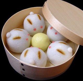 日本人のおやつ♫(^ω^) Japanese Sweets 和菓子 Wagashi 兎饅頭