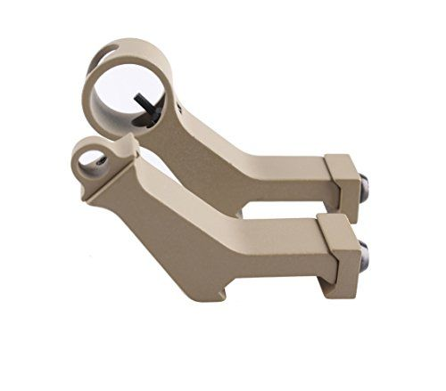GVN 45 Degree New Tactical Iron Sights Rear Front Sight Mount Set for Weaver  Picatinny Rails Tan >>> Click on the image for additional details.