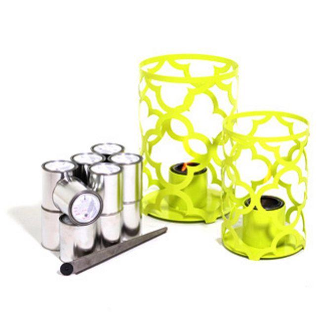 TF Essentials Mediterranean Lime Outdoor Lantern Set