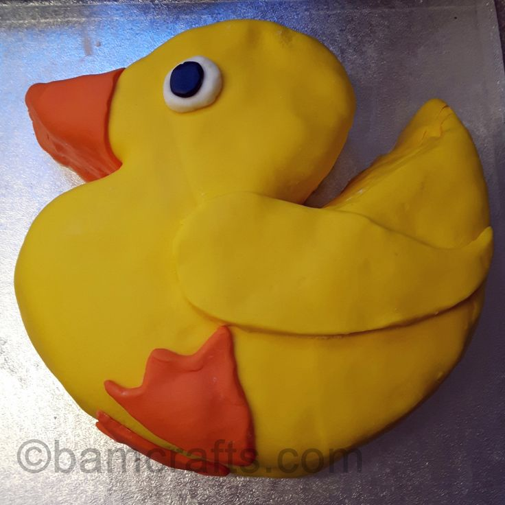 how to make a rubber ducky cake