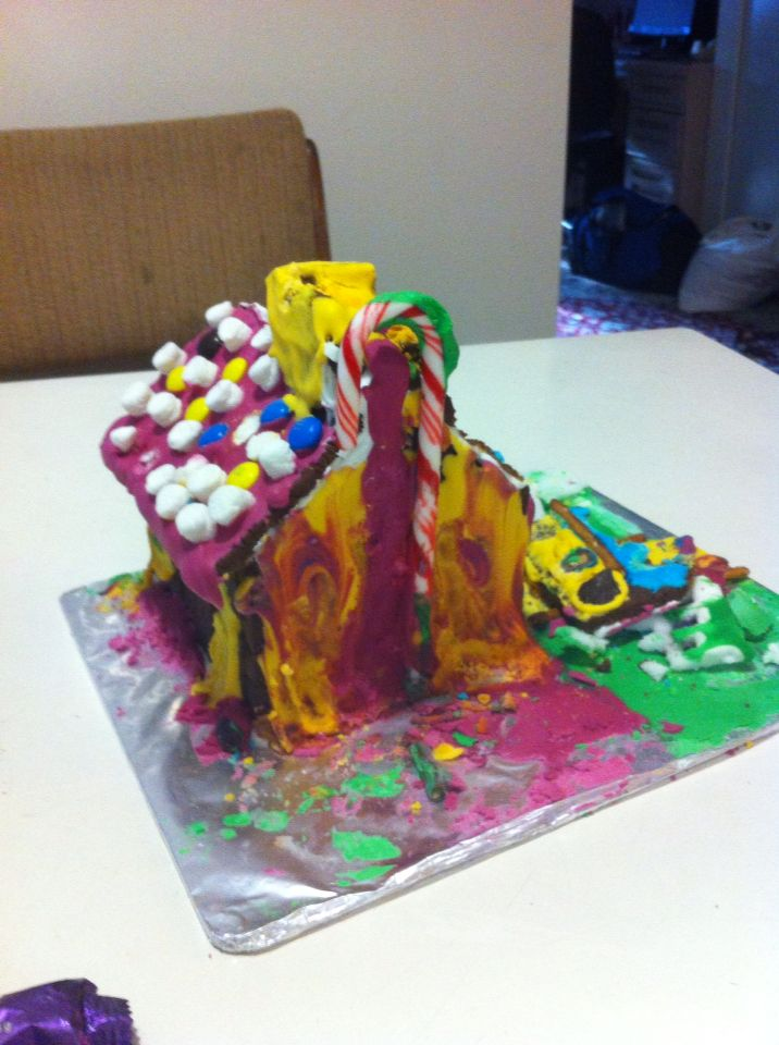 Young's psychedelic gingerbread cabin. Far out.