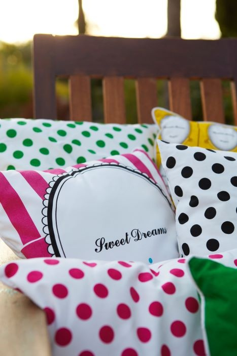 Sweet dreams, polka dots and stripes! MYRLILJA limited edition cushions from IKEA