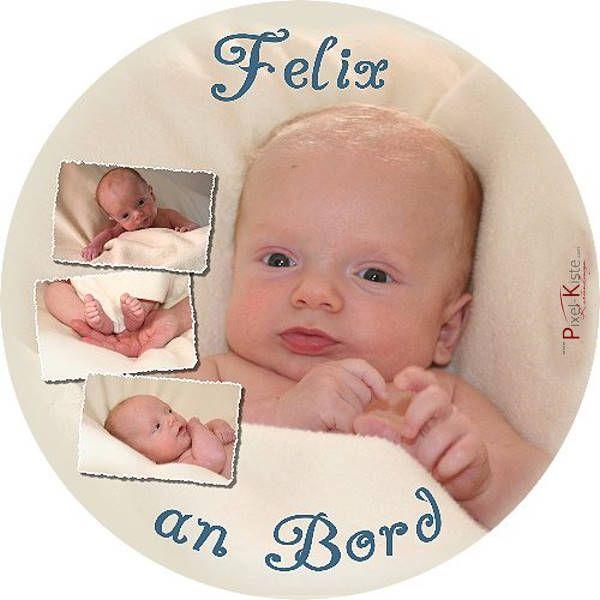 Baby an Bord Aufkleber mit Foto