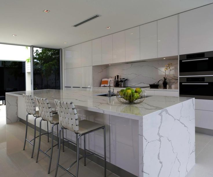 Calcutta Marble Backsplash