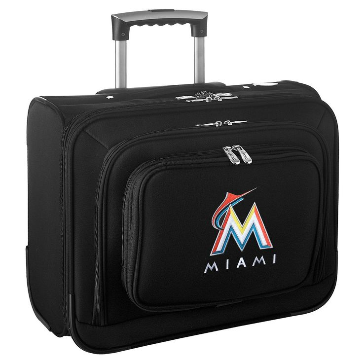 MLB Miami Marlins Wheeled Laptop Overnighter