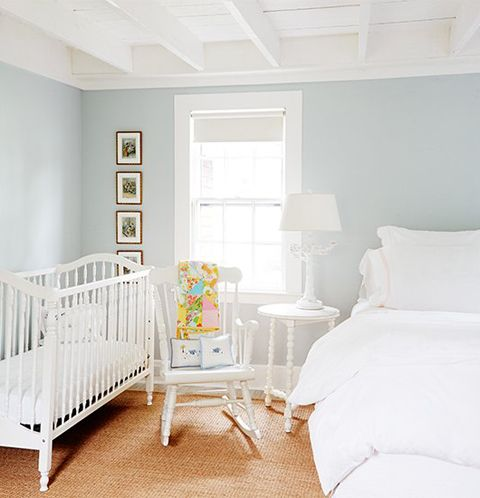 Aqua walls aesthetic nyc pinterest linens shared for Master bedroom with attached nursery