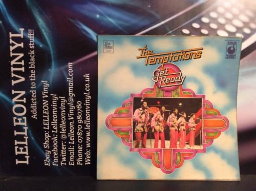 The Temptations Get Ready LP Album Vinyl Record SPR90004 Tamla Motown Soul 60's Music:Records:Albums/ LPs:R&B/ Soul:Motown
