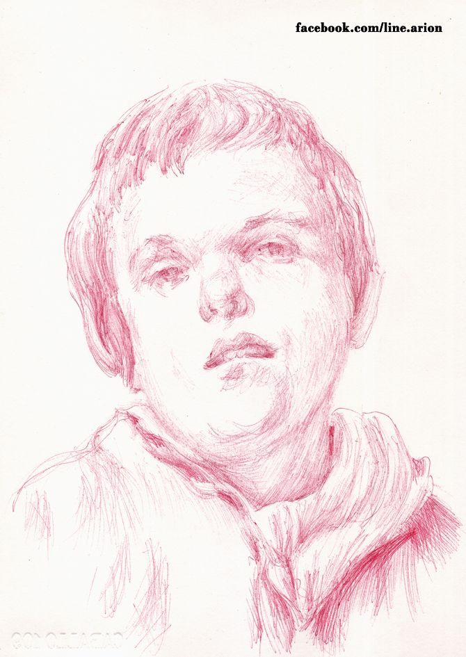 paquito with red ballpoint pen after velázquez