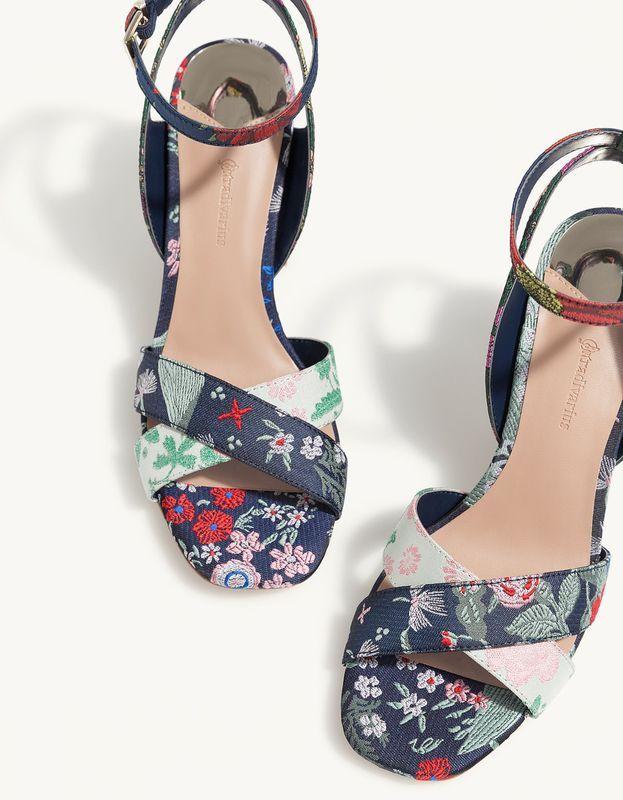 Sandały damskie na obcasie Stradivarius