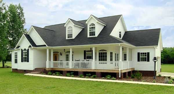 This modest country-style design is one of our most popular home plans. It offers 1,793 square feet now, and a bonus space that you may choose to finish later.