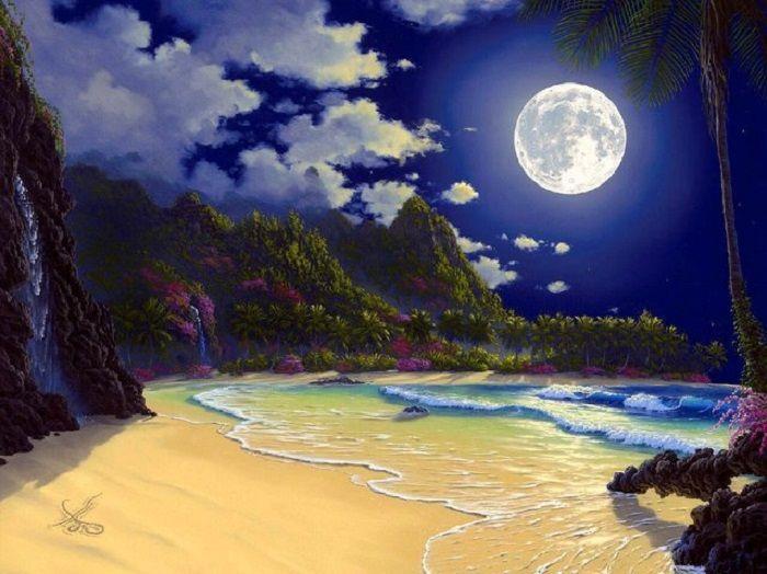 Ночной пейзаж.