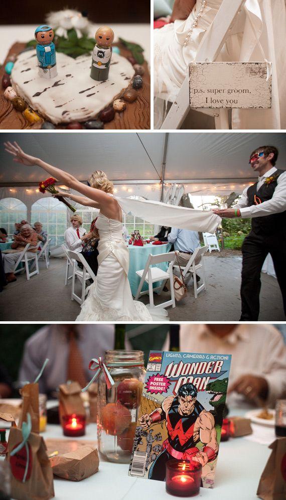 Handmade Weddings Vintage Superheroes Conquer the World
