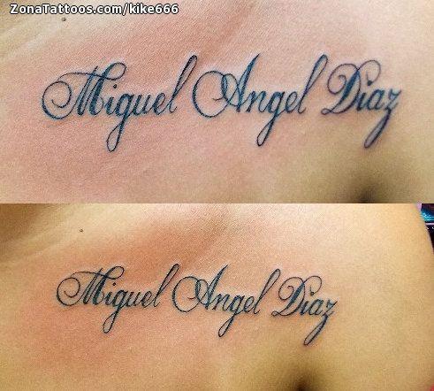 Tattoo Of Miguel Names Letters Tatuajes De Nombres Tatuajes Hombre Brazo Tattoo Nombres