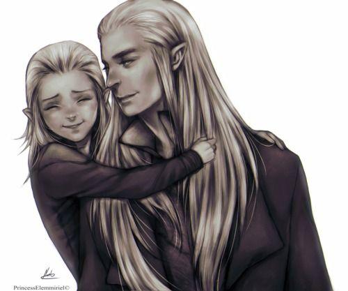 princesselemmiriel:Old good times.Thranduil & Legolas
