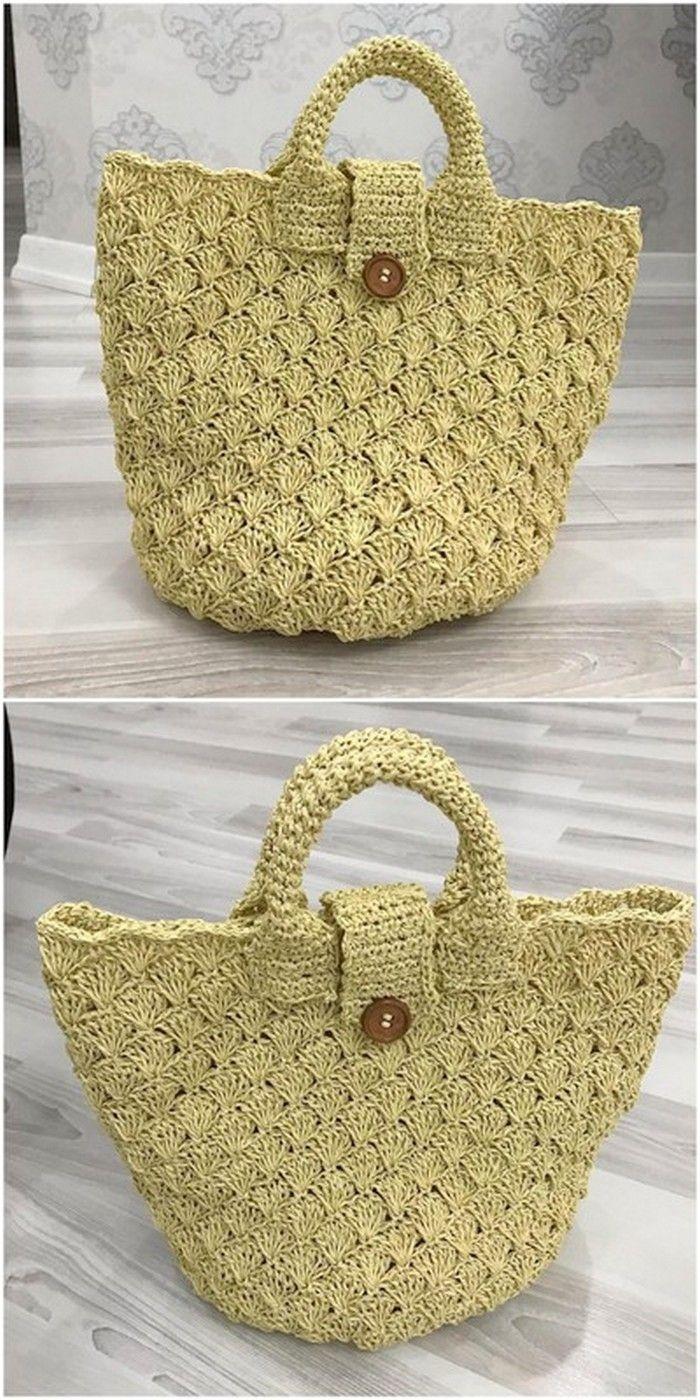 easy to design crochet bag idea