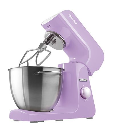 Sencor STM 45 VT stand mixer Mine is the color of spring's most fragrant flower, made up of a thousand little joys and inconspicuous enchantments. It is the color of fairness and freedom, the color of daydreams. I have a heart of steel, I'm driven by a reliable 1000W motor, and your wish is my command.